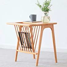 Sofa Side End Table, End Table Solid Wood Small Coffee Table Wooden Side Tables Modern Bedside Sofa Corner Table for Livin...