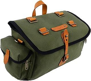 Zimbale Bicycle Waterproof Canvas Saddlebag - 7 Liter Capacity - 10.6 X 7.19 X 5.9 (inch) - Green