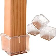 "Chair Leg Floor Protectors 1.5"" Chair Leg Caps 1-1/2 to 1-5/8 InchSquare Furniture Leg Caps Table Chair Feet Protectors w..."
