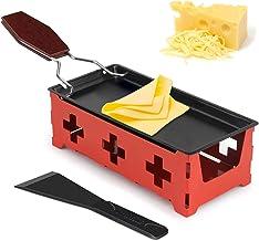 Mini Gril au Fromage, Mini Raclette Set, Set à Raclette Portable, Machine à raclette Portable avec spatule et poignée Plia...