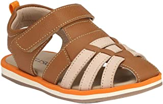 Hopscotch Tuskey Shoes Boys Genuine Leather Leather Sandals in Tan Color