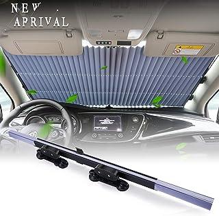 Torchtree - Parasol retráctil para parabrisas de coche para mantener tu vehículo fresco y libre de daños, reflector UV y c...