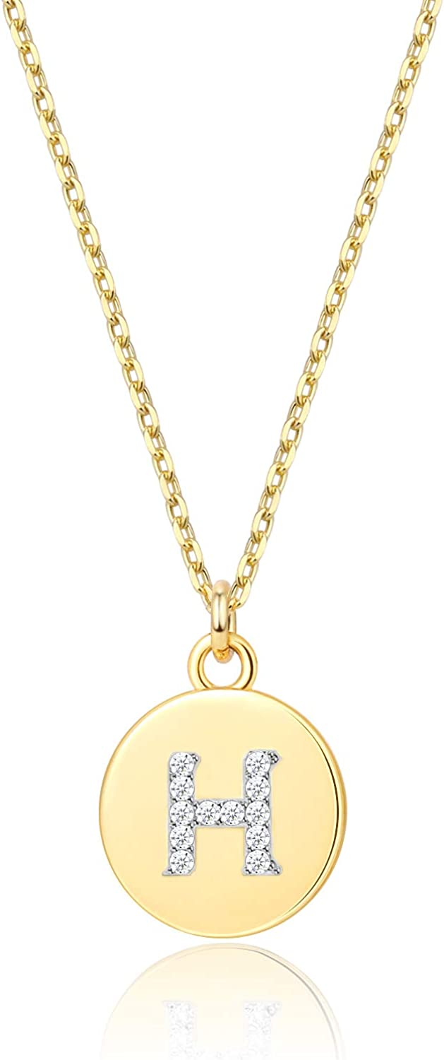 Gold Letter Necklace for Girls   Small Gold Initial Letter Pendant necklaces for Women
