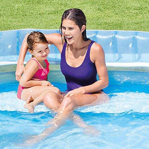 Intex 57190NP Piscine de salon familial Swim Center, 229 x 218 x 76 cm