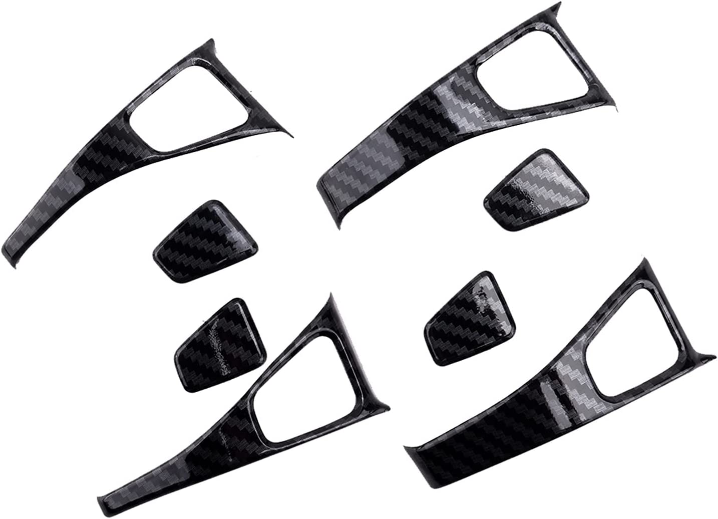 Outstanding xuqi 8Pcs Luxury goods Set ABS Black Car Protection Button C Switch Door Lock