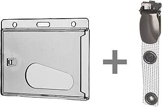 HIFOT Namensschild mit Metallclip Ausweisclip Kartenclip Metallkettchen Befestigungen f/ür Ausweish/üllen und Kartenhalter 10 St/ück