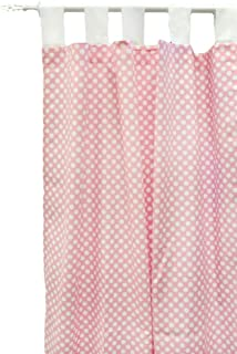 New Arrivals Zig Zag in Pink Sugar Set Of 2 Curtain Panels, Pink
