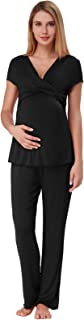 Women Ultra Soft Maternity & Nursing Pajama Set Pregnancy Sleepwear ZE0045
