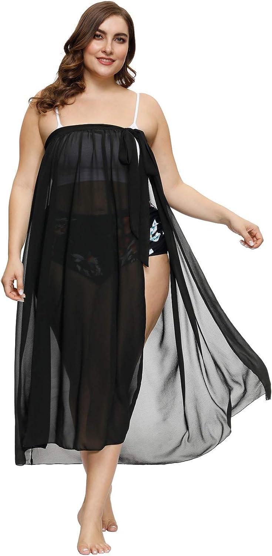 Hanna Nikole Plus Size Sarong Swimsuit Cover Ups Bikini Beach Cover-Ups Wrap Skirt