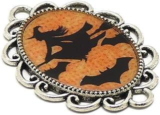 1 magnete Halloween zucca strega pipistrello arancione nero regali personalizzati Natale amici mamma compleanno ospiti fes...