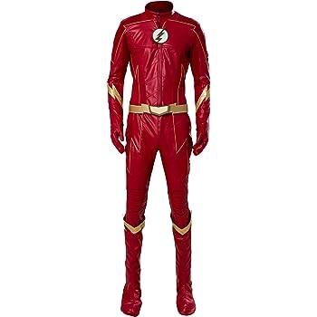 MingoTor El Flash Outfit Disfraz Traje de Cosplay Ropa Hombre M ...
