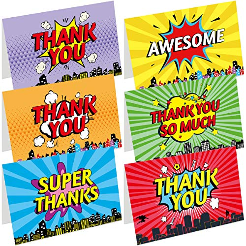 Kid Thank You Cards 36 Thank You Notes Greeting Cards With Envelopes For Friends Family Wedding Business Gift Cards Birthday
