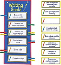 Really Good Stuff Writing Goals Clip 'N' Track Pocket Chart - Primary