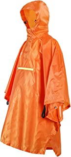 HOMYL Emergency Lightweight Poncho Cycling Outdoor Rain Proof Cape Poncho Coat Camping Reflective Strip Hooded Raincoat