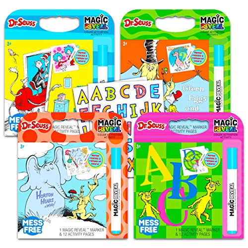 Dr. Seuss Coloring Book Bundle Dr. Seuss Activity Set - 4 Pack Dr. Seuss...