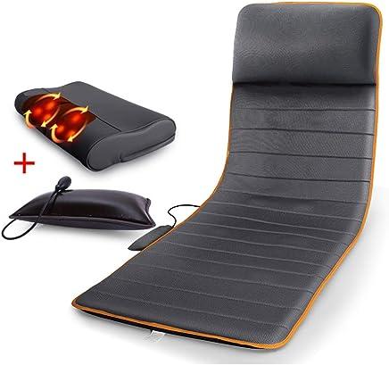 多機能ボディ電気毛布ベッドマッサージシートクッション - 熱で背中のマッサージャー、フルバックの痛みを軽減、ホームオフィスの椅子のためのマッサージチェアパッド