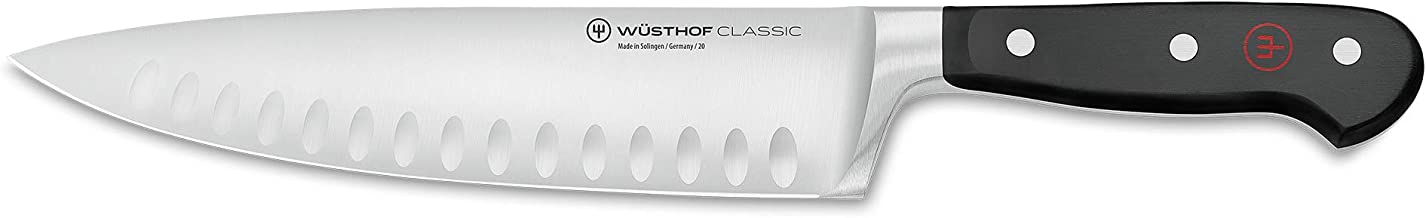 Wusthof 1040100220 Classic 8-Inch Cook's Knife Hollow Ground Blade, Black