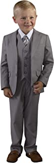 Boys Slim Fit 5 Piece Suit Light Grey in Toddler to Boys Sizing