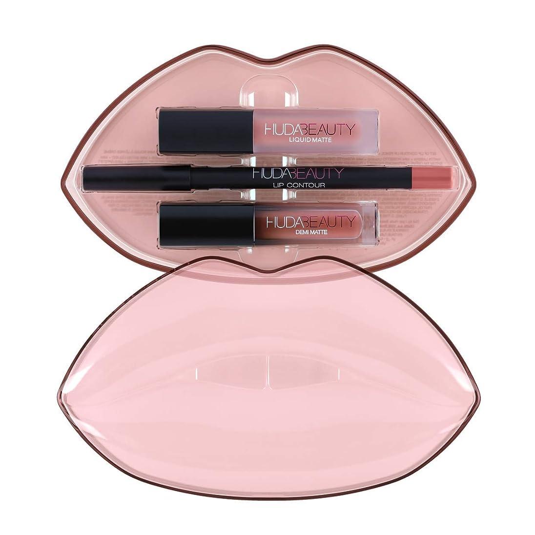 検出器海上あさりHUDABEAUTY フーダビューティ リップ Demi Matte & Cream Lip Set Mogul & Bombshell