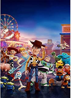 Photography Background Toy Story 4 for Birthday 5x7ft Vinyl Photo Background Carnival Toy Story Backdrop for Baby Shower Personalized Wall Backdrops Party Decorations