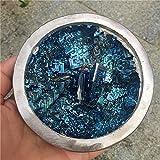 FENGNANMY Piedras Curativas Natural Hermoso espécimen Mineral Azul Bismuth Cuenco Cristal Iridiscente minerales Rocas artículos de Muebles para el hogar 1pcs