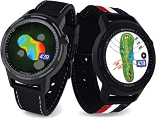 $194 » Golf Buddy Aim W10 GPS Watch, Advanced Smart Golf Watch, Full-Color Touch Screen, 40,000 Preloaded courses, Red/White/Blue...