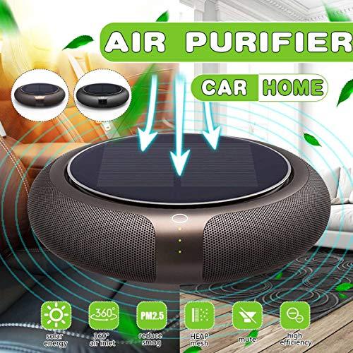 MAGO draagbare auto luchtreiniger zonne-energie opladen met echte HEPA filters, USB luchtreiniger | Air Ionizer Freshener PM2.5 Geur allergieën Eliminator Sigarettenrook allergieën Bacteriën Stof En huisdieren
