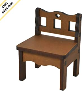 CWGmini-0046 Country Wood Garden ミニチュア家具 1/6スケール 【チャイルドチェアー ミディアムブラウン】