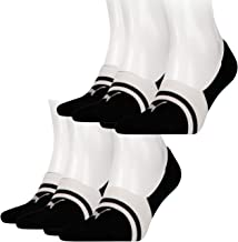 PUMA Heritage Lot de 4 chaussons unisexes pour homme et femme Noir/blanc 76 % coton