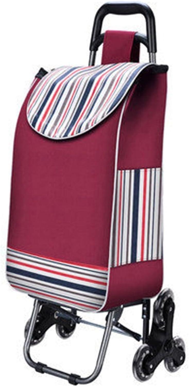 tomamos a los clientes como nuestro dios FXJ Escalera de Compras de Equipaje Plegable Plegable Plegable portátil Acolchado Impermeable Bolsa PU Rueda de Cristal Carro Puede soportar 50 kg de Peso (Color   D)  Todo en alta calidad y bajo precio.