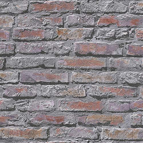 Papiertapete Steintapete Tapete Steinoptik Naturstein-Tapete 954702 95470-2 A.S. Création Dekora Natur 6   Bunt Grau   Rolle (10,05 x 0,53 m) = 5,33 m²