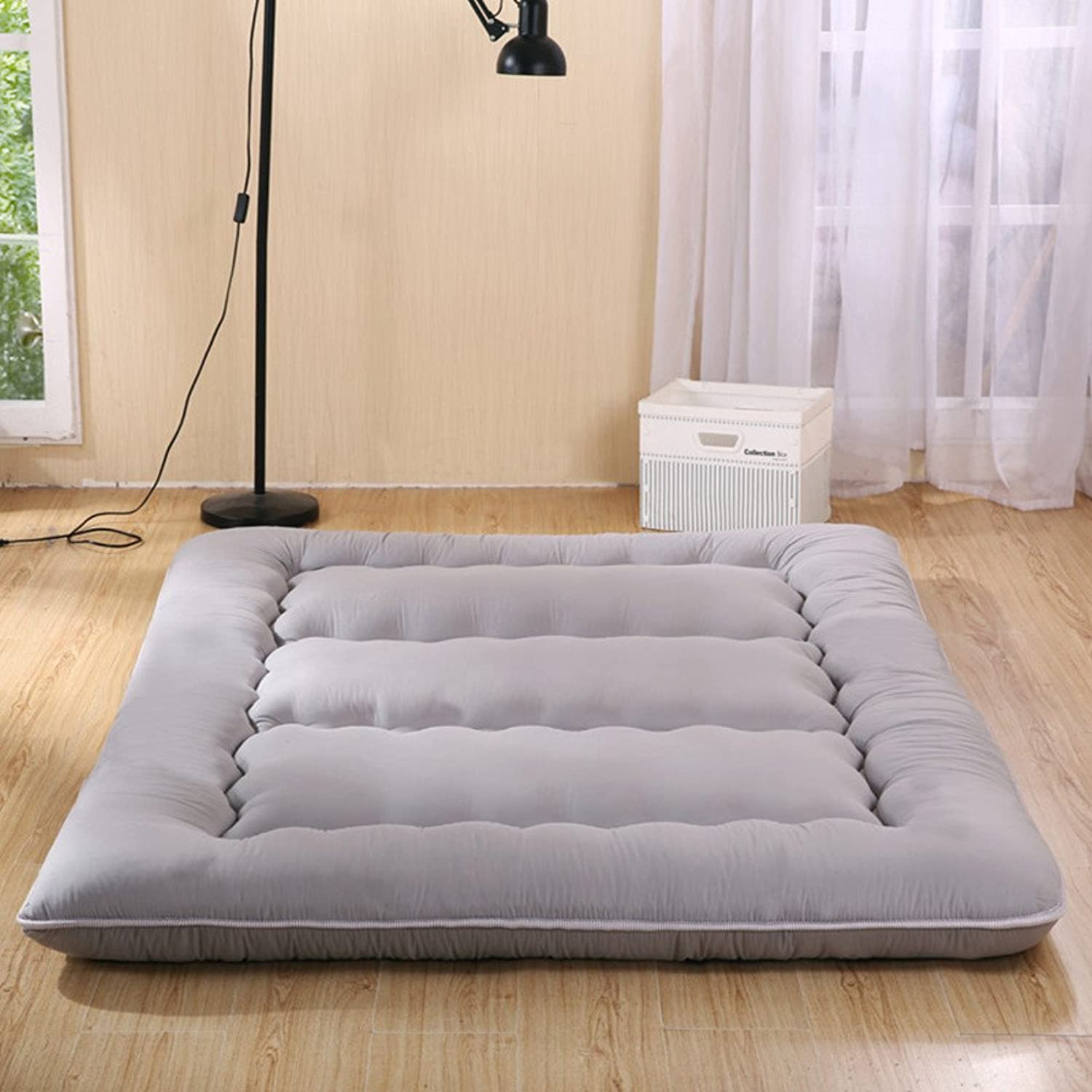 Collapsible Thickened Tatami Floor mat,Large Portable Various Sizes Dorm Queen-King Washable Futon Mattress Topper-B 120x200cm(47x79inch)