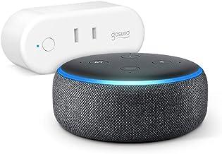 Echo Dot 第3世代 - スマートスピーカー with Alexa、チャコール + ゴウサンド(Gosund) WiFi スマートプラグ gs-wp6-1-jp