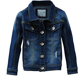 Baby Boys' Girls Basic Denim Jacket Button Down Jeans Jacket Top Fashion Blue Coat Outerwear