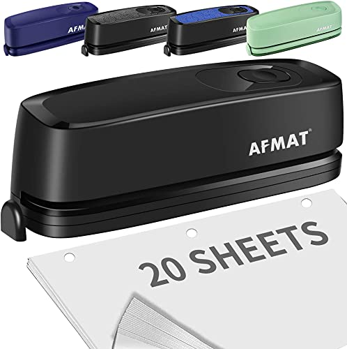 lowest Electric 3 Hole Punch, Three outlet sale Hole Punch Heavy Duty, 20-Sheet Punch Capacity, AC or Battery Operated Paper Puncher, Effortless Punching, online Christmas Gift Paper Punch for Office School, Teacher Gifts sale