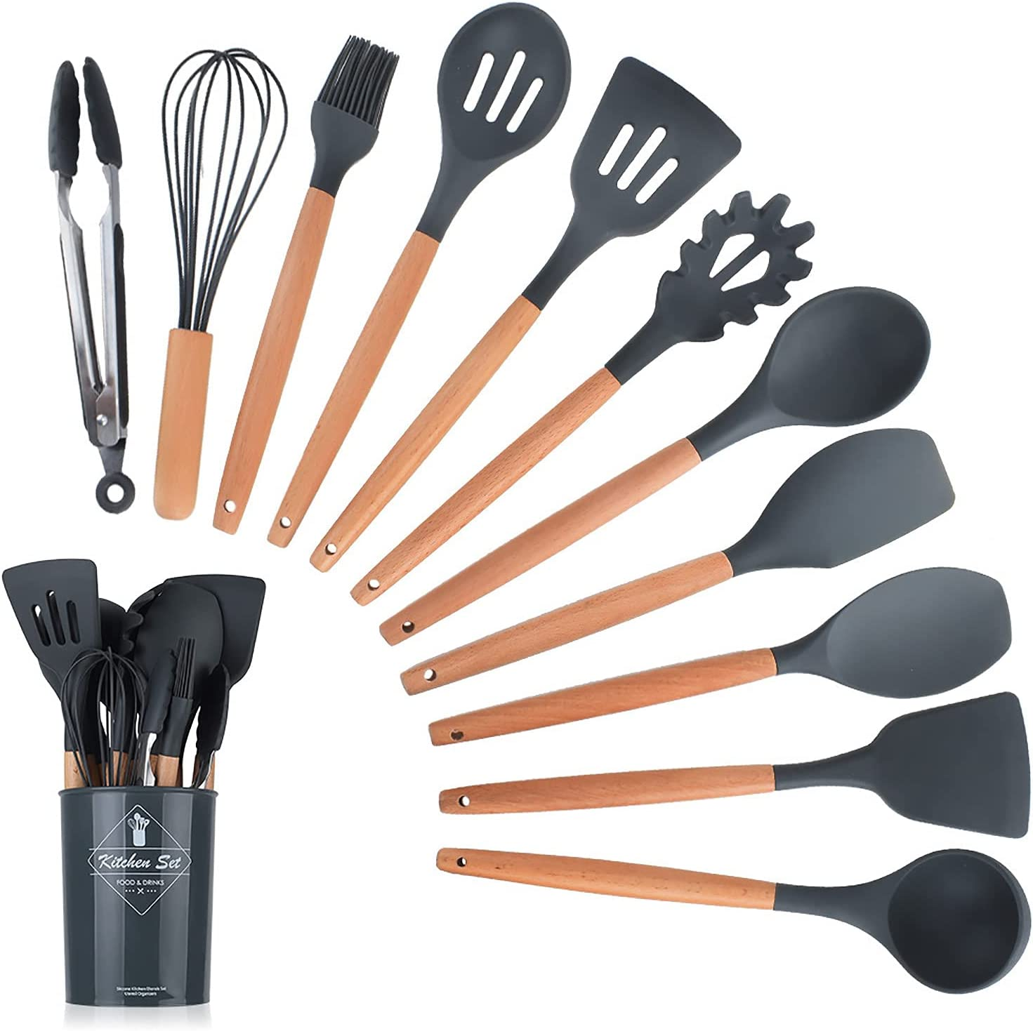 clhjinruoliu Kitchen Utensils Set Pieces Minneapolis Mall 11 Don't miss the campaign Silicone Heat-Resis