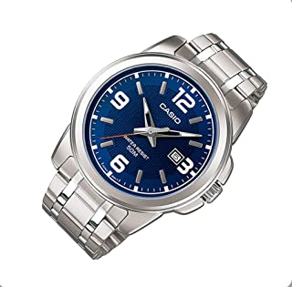 ساعة يد كاسيو للرجال بسوار من الستانلس ستيل [Mtp-1314D-2Av]، شاشة انالوج