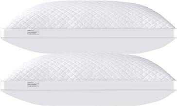 وسائد سرير للنوم 2 عبوة مقاس كينج 50.8 × 91.44 سم، وسادة بديلة بديلة مع حشوة من الألياف المخملية الناعمة الممتازة، وسائد ن...