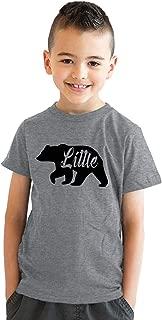 Youth Little Bear for Children Adorable Funny Novelty Family T Shirt