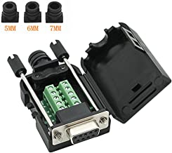 Connector DB9 RS232 D-SUB Female Adapter 9-pin Port Adapter to Terminal Connector Signal Module with case(Female Connector, DB9 5+5 with case A)
