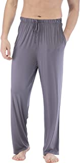 Men's Pajama Pants Bamboo Knit Sleep Bottoms Casual Lounge Pants