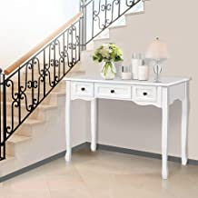 Artiss Console Table Wooden French Provincial Hallway Entry Side Desk - White