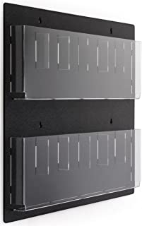 Displays2go Wall Mounted Literature Rack, 12 Pockets for 4x9