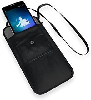 DefenderShield Faraday Anti-Tracking, Anti-Spying Bag - The ConcealShield RFID GPS FOB Signal Blocking Privacy Pouch & EMF Blocker for Cell Phone, Credit Card, Passport Holder