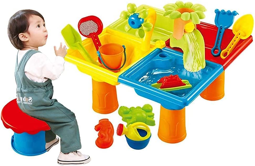 Chtom We OFFer at cheap prices Kids Water Table El Paso Mall Sand Play Activity Toy Beach 2-in-1