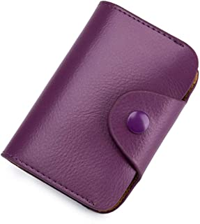 LONGBO Women's Wallet, Vintage Leather Wallet, Ultra-thin Credit Card Holder with RFID Lock.