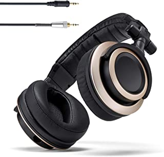 Status Audio CB-1 Closed Back Studio Monitor Headphones with 50mm Drivers - For Music Production, Mixing, Mastering and Audiophile Use (Black & Gold)