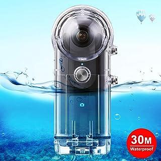 Ricoh Theta用防水ケース 水中ハウジングケース 30m防水 Ricoh Theta S/Theta V/SC360カメラに対応 ダイビングケース ダイビング/シュノーケリング/水泳に最適 (Ricoh theta用)