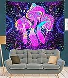 KHKJ Tapiz de Mandala Seta púrpura Colgante de Pared Boho decoración tapices de Tela de Pared psicodélico Hippie Mandala Alfombra de Pared A6 200x150cm