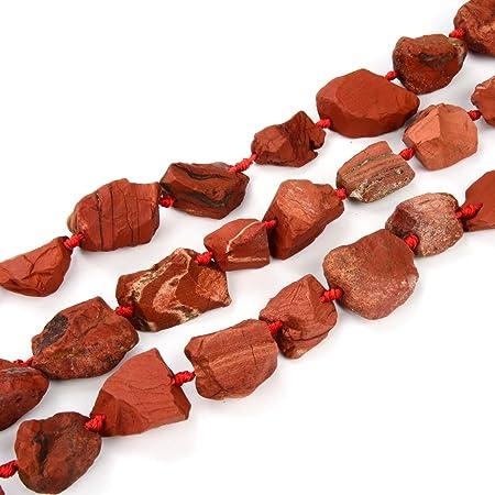 Red Jasper Labradorite Pendant Stone Quartz Beads Handmade Knot Necklace Jewelry